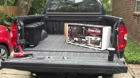 swing case by undercover toyota tundra undercover swing case install review youtube