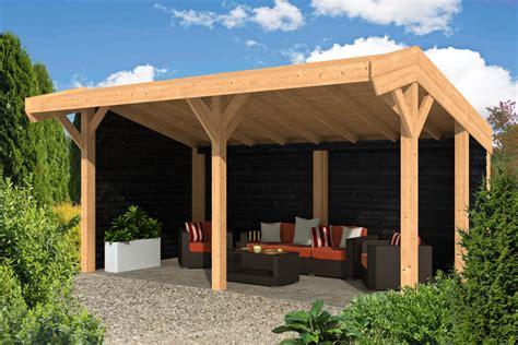 pavillon 6x4 houten kapschuur lariks douglas kapschuren luxe houtbouw