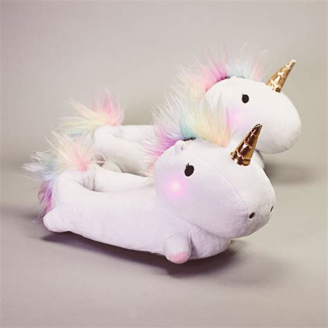 Unusual Home Decor Accessories by Enchanted Light Up Unicorn Slippers Firebox