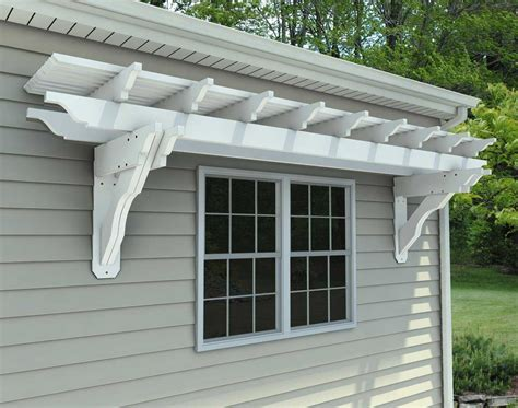 eyebrow pergola kits wall mount vinyl eyebrow breeze