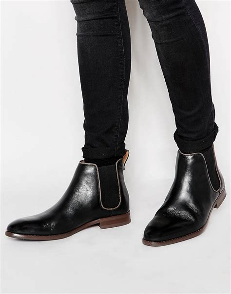 aldo aldo merin leather chelsea boots at asos