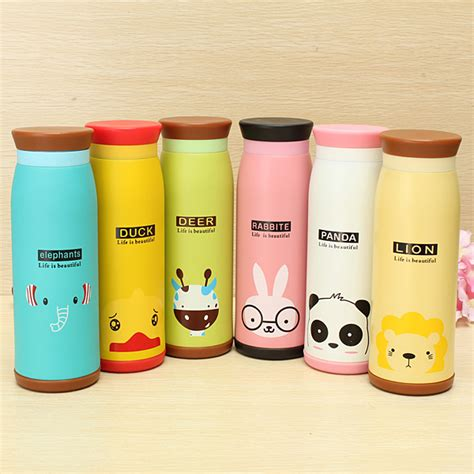 Termos Karakter Animal 500ml Animal Vacuum Flask Thermos Tea Water Cup Bottle 500ml Alex Nld