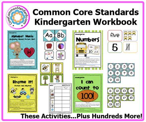 Common Standards Worksheets by Kindergarten Common Workbook