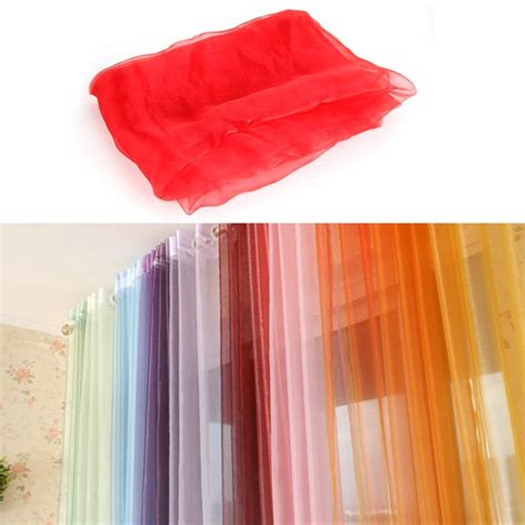 red sheer curtain scarf sheer voile window treatment panel curtain drape scarf red