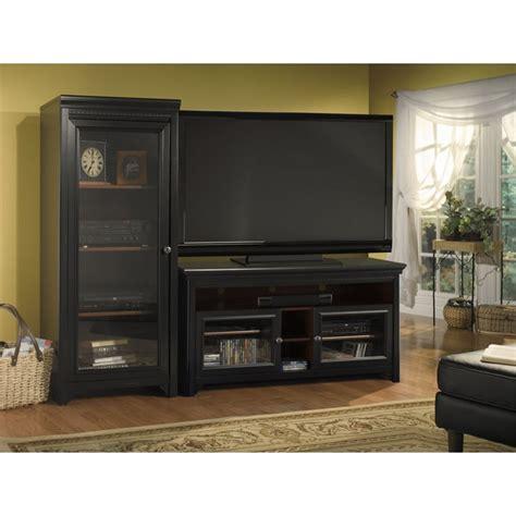 black cherry never audio bush furniture stanford cabinet w 2 audio rack ebay