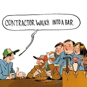 house painter jokes quot contractor walks into a bar quot home real estate money this old house