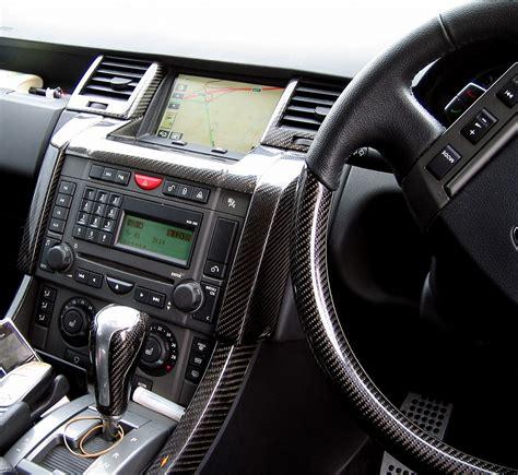 range rover sport dashboard black carbon fiber fibre interior dash air vent kit range