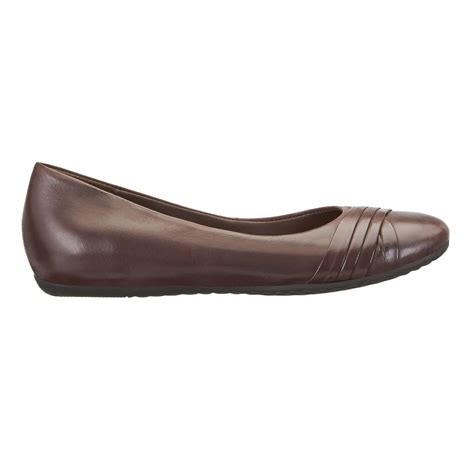 brown flat shoes easy spirit essedette brown leather womens flat shoes