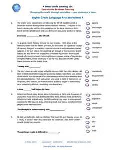 8th grade language arts worksheets free worksheet