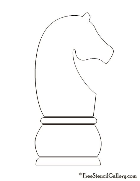 Chess Pieces Outline by Chess Stencil Free Stencil Gallery
