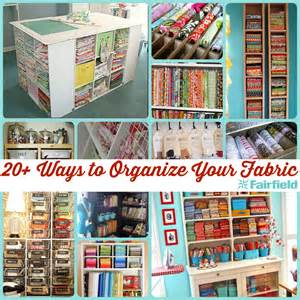 Sewing Craft Room Organization Ideas - 20 ideas to help you organize your fabric stash
