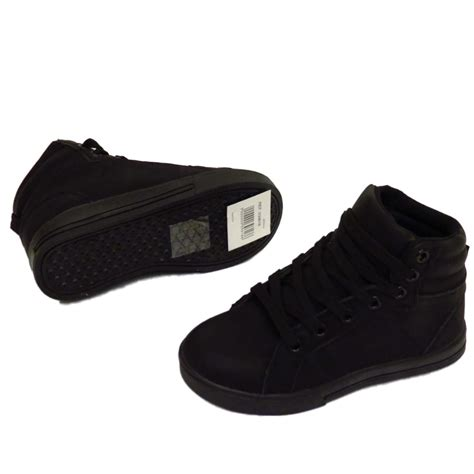 Flat Shoes Testimony 5 boys childrens black lace trainers flat boots school