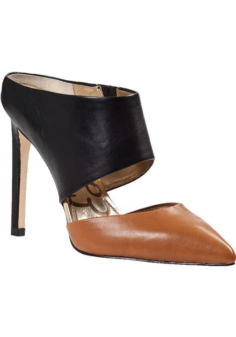 sam edelman high heels lyst sam edelman high heel mule black leather in