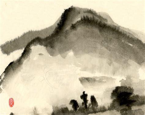 The Foolish Oldman Removed Mountains sumi e prints turtle light press turtle light press