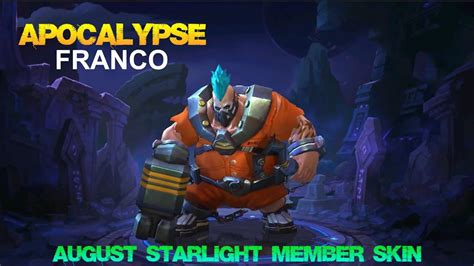 codashop mobile legends starlight member mobile legends apocalypse franco skin first look aug