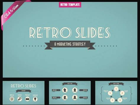 powerpoint slides template free retro presentation template