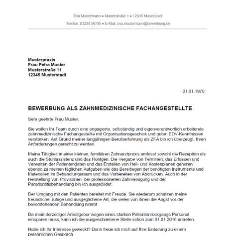 bewerbungsschreiben zfa bewerbung deckblatt 2018