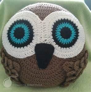 Crochet Owl Cushion Pattern Owl Pillow By Hernandez12 Craftsy
