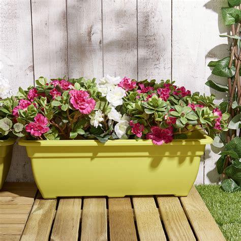 wilko bright green trough bell planter cm wilko