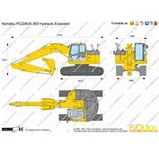The Blueprintscom  Vector Drawing Komatsu PC228US 3E0 Hydraulic