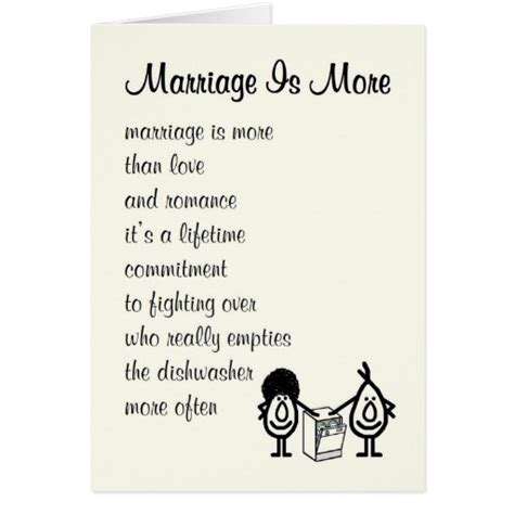 Wedding Anniversary Poems by Marriage Is More Wedding Anniversary Poem Card