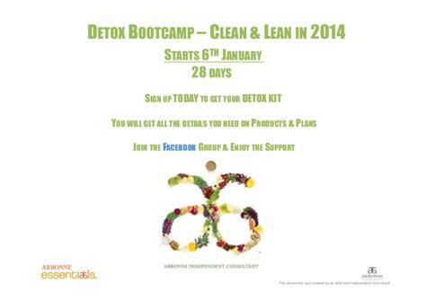 Detox Flyer by Arbonne Essentials Clean Lean In 2014 Detox Flyer