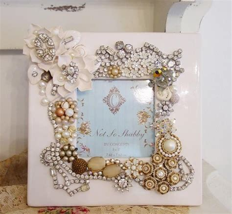 diy 5 ways to decorate boring picture frames youtube recycled jewelry decorated frame the white frame makes