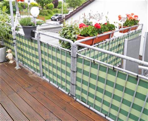 balkongeländer planen windschutz sichtschutz f 252 r terrasse balkon nach ma 223