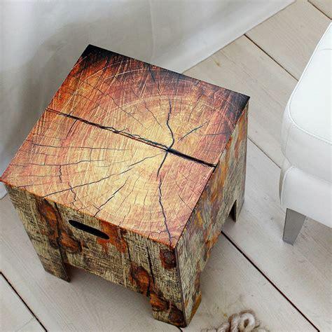 design hocker nachttisch beistelltisch aus holz oder - Nachttisch Holz Design