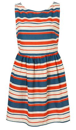 Bj 0543 Color Stripe Dress the style day tripper positano