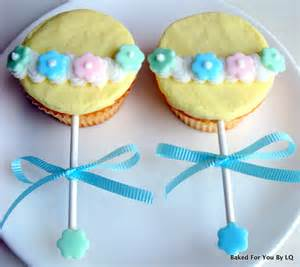 baby shower rattle cupcakes baked for you