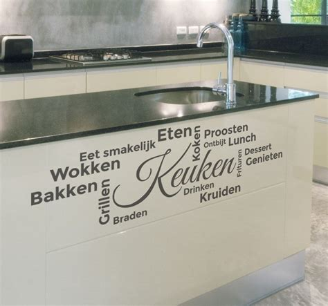sticker keuken keuken woorden eten tekst sticker tenstickers