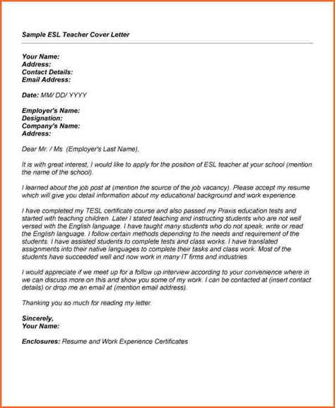 7  sample application job letter for a teacher   Budget