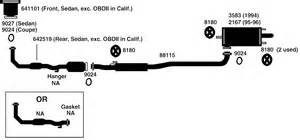 2002 Camry Exhaust System Diagram Toyota Camry Exhaust Diagram From Best Value Auto Parts