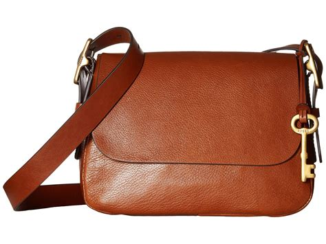 Fossil Small Crossbody 2 fossil small saddle crossbody in brown lyst