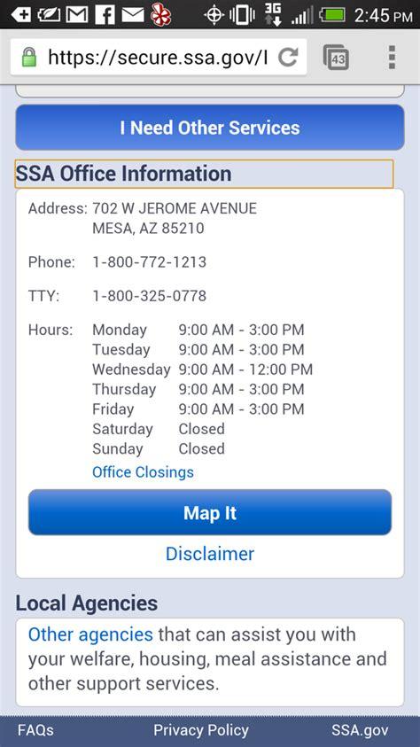 Social Security Office Mesa Az by Social Security Administration Mesa Office