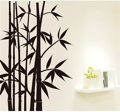 bamboo wall decoration home decor wall sticker wall removable decoration
