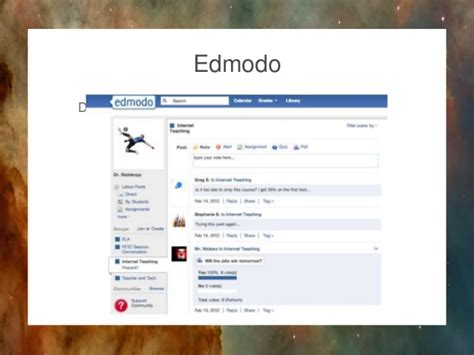 edmodo facebook facebook edmodo schoology and pedagogy