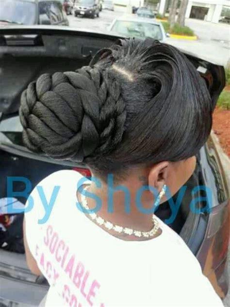 Shoya Creations Hairstyles | shoya creations fishtail bun hair pinterest