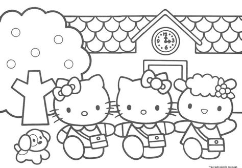 Printable Coloring Pages Of Hello Kitty And Friends | print out hello kitty friends printabel coloring pagesfree