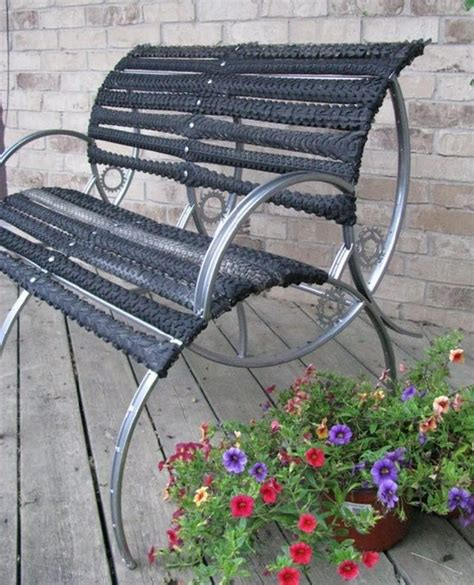 bike bench bicycle wheels upcycling ideas recycled things