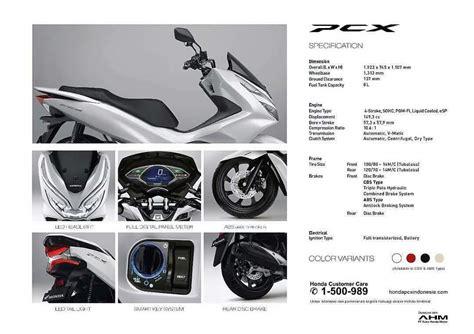 Pcx 2018 Spek by Spesifikasi Honda Pcx 2018 Bmspeed7 Com 187 Bmspeed7
