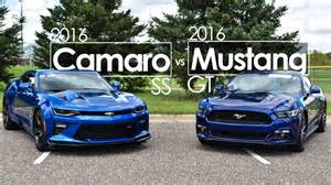 camaro ss vs mustang gt autos post
