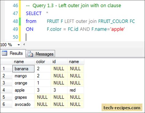 inner join select query inner and left outer join with where clause vs on clause