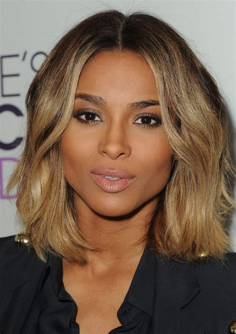 curly bob with part in the middle hairstyle 22 ciara hairstyles ciara hair pictures pretty designs