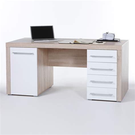 schreibtisch computertisch schreibtisch cube pc tisch computertisch wei 223 und sonoma