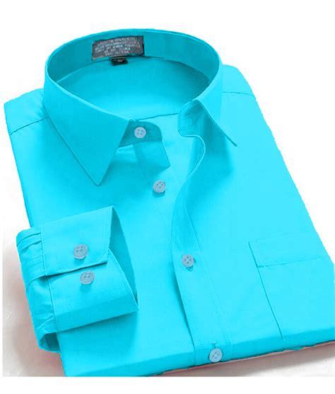 aqua color shirt s regular fit sleeve solid color one pocket