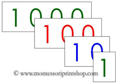 printable montessori number cards large number cards free printable montessori materials