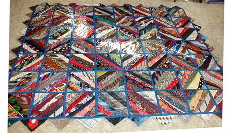Quilt Made From Ties by Image Gallery Necktie Quilt Pattern
