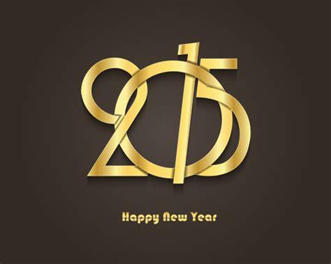 new year golden week 2015 golden creative 2015 new year vector material 02 vector
